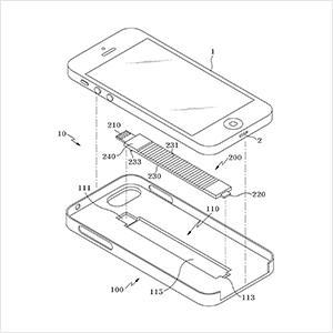 케이블 수납이 가능한 휴대폰 케이스 특허도안