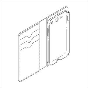 휴대폰 케이스(디자인 특허) 특허도안
